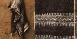 Salt Deserts of Kutch ❅ Hand spun ❅ Raw woolen Shawl ❅ G