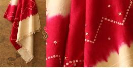 Winter Hop ⚹ Handwoven Merino Wool  Shawl ( Tie & Dye )❅ N
