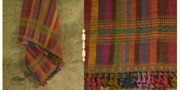 Salt Deserts of Kutch ✠ Hand spun ✠ Raw woolen Shawl ✠ 7