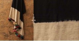 Sharad . शरद ⚹ Handwoven Merino Wool Tussar Plain Shawl ❅ 10