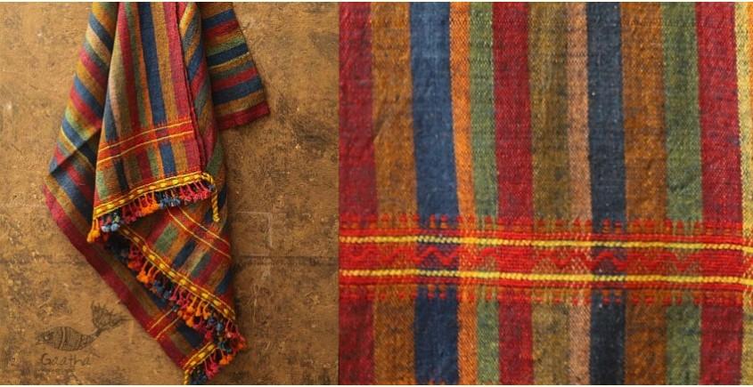 Salt Deserts of Kutch ❅ Hand spun ❅ Raw woolen Shawl ❅ U
