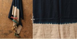 Sharad . शरद ⚹ Handwoven Merino Wool Tussar Plain Shawl ❅ 8