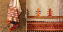Salt Deserts of Kutch ❅ Raw Woolen Stole ❅ 1