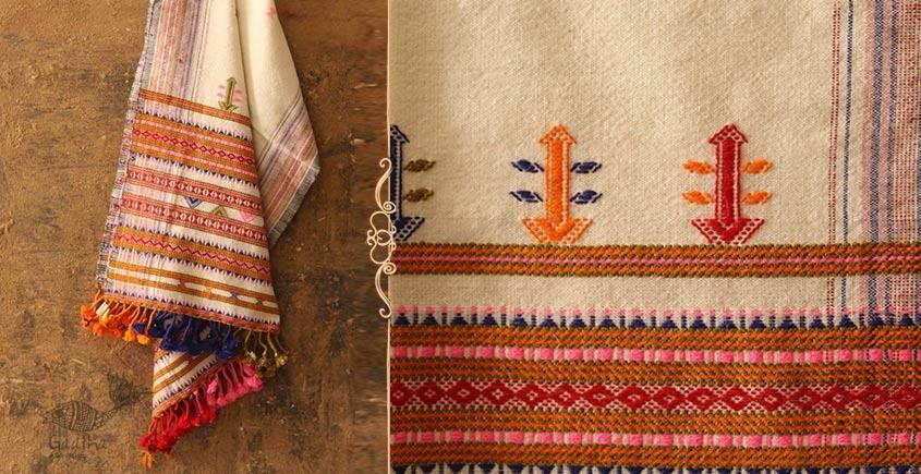 Salt Deserts of Kutch ❅ Raw Woolen Stole ❅ 1