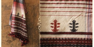 Salt Deserts of Kutch ❅ Raw Woolen Stole ❅ 9