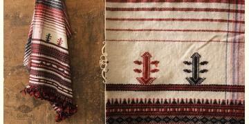 Salt Deserts of Kutch ❅ Raw Woolen Stole ❅ 9