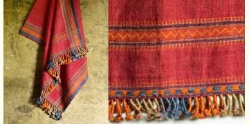 Salt Deserts of Kutch ✠ Hand spun ✠ Raw woolen Shawl ✠ 4
