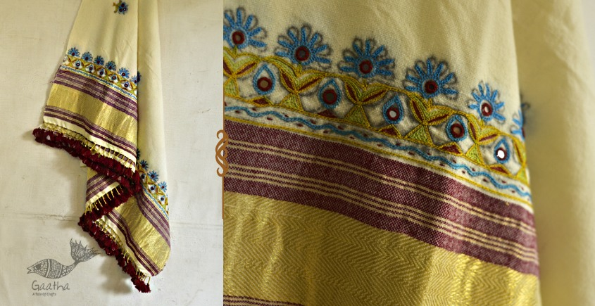 exclusive new collection of 2021 Woolen Zari Shawl with Ari Embroidery