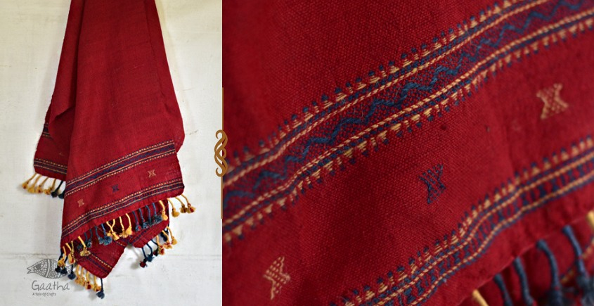 exclusive new collection of 2021 Raw Woolen rust red Shawl