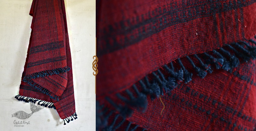 exclusive new collection of 2021  Raw Woolen dark red Shawl