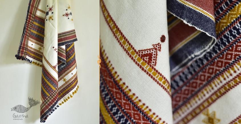 Sevanti   सेवंती ❥ Woolen Mirror Work Shawl ❥ 8
