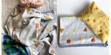Organic Cotton ★ Kids Organic Gift Set (Dohar + Kapok Pillow Dhruvtara print) ★ 13