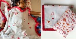 Organic Cotton ★ Kids Organic Gift Set (Dohar + Kapok Pillow - Koi) ★ 14