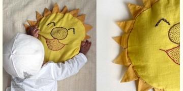 Organic Cotton ★ Sun Mustard Seed Pillow ★ 3
