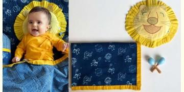 Organic Cotton ★ Kids Organic Gift Set (Dohar + Mustard Seed Pillow + Maracas - Zoo) ★ 16