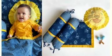 Organic Cotton ★ Kids Organic Gift Set (Dohar + Mustard Seed Pillow + Maracas - Zoo + 2 Bolster -Zoo) ★ 20
