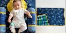 shop Newborn Gift Set - Zoo (Dohar + Pillow + 2 Bolster + 2 Maracas)