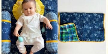 Organic Cotton ★ Newborn Gift Set - Zoo (Dohar + Pillow + 2 Bolster + 2 Maracas) ★ 17