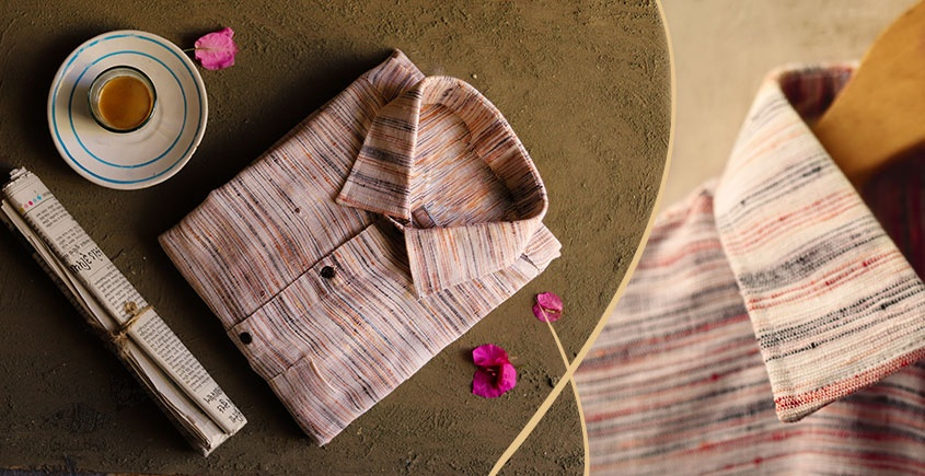 कनिष्क ♕ Handwoven Cotton Shirt ♕ 10