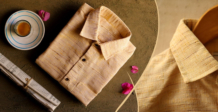 Handwoven Cotton Shirt -yellow