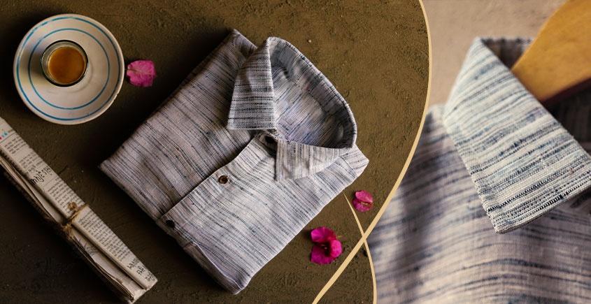 कनिष्क ♕ Handwoven Cotton Shirt ♕ 9