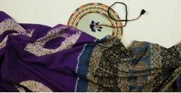 Charulata ★ Tie-Dye & Ajrakh ★ Cotton Shibori Saree ★ 2