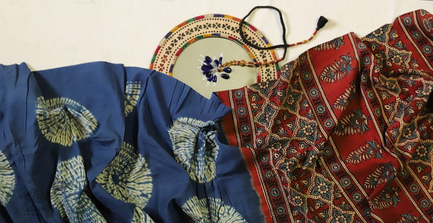 Charulata ★ Tie-Dye & Ajrakh ★ Cotton Shibori Saree ★ 3