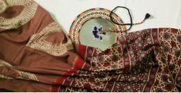 Charulata ★ Tie-Dye & Ajrakh ★ Cotton Shibori Saree ★ 6