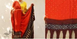 Flavors of fusion ★ Gajji Silk Ajrakh Bandhani Dupatta ~ 4