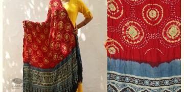 Flavors of fusion ★ Gajji Silk Ajrakh Bandhani Dupatta ~ 5