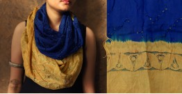 Flavors of fusion ★ Tabi Silk Ajrakh Bandhani Stole ~ 9