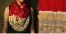 Flavors of fusion ★ Tabi Silk Ajrakh Bandhani Stole ~ 11