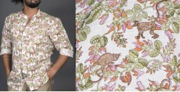 Bandar Palash ● Linen Block Printed Shirt ● 5