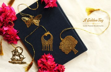 Golden Tag * Gold Plated Bookmarks.