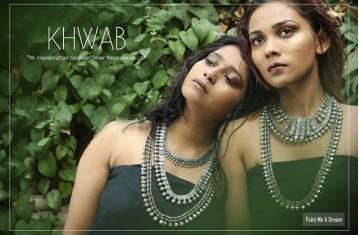 Khwab * Handcrafted German Silver Neckpieces.