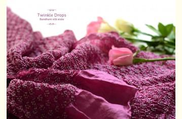 Bandhani silk stole ~ Twinkle drops