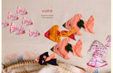 मनमौजी ❈ Bandhani Shibori . Dress Material