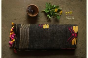 तुलसी ✽ Handloom Linen Sarees