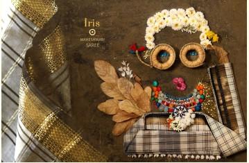 Iris ❢ Maheshwari Handloom Saree