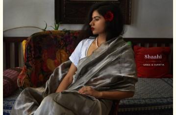 Shaahi ❂ Hand-Embroidered Saree & Dupatta