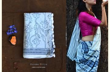 Kusuma Priya ✮ Natural Color ✮ Linen & Cotton Saree