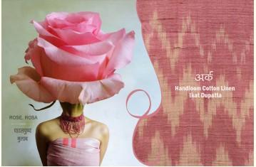 अर्क ✽ Handloom Cotton Linen Ikat Dupatta