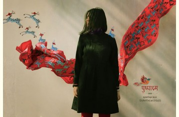पुष्पारम ✽ Kantha Silk ✽ Dupattas & Stoles