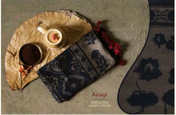 Anagi - Modal Silk Ajrakh Stole