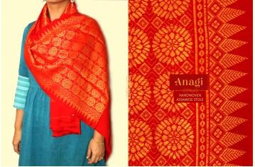 Anagi ☘ Handwoven Assamese Stole & Dupatta