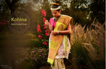 Kohina - Block Printed Cotton Saree.