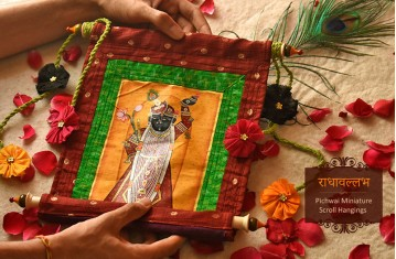 RadhaVallabh * Miniature . Scroll Hangings.