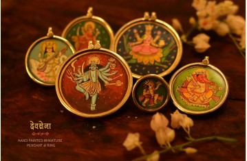 देवसेना * Miniature Painting . Pendant & Ring