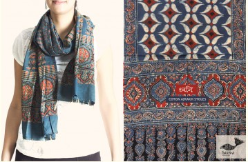 ध्वनि | Dhvani ❋ Cotton Ajrak Stole