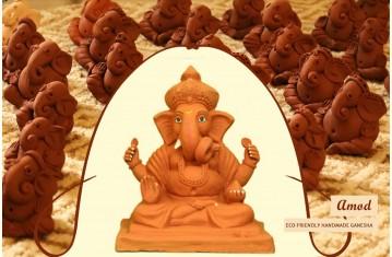 Amod ❦ Eco friendly Handmade Clay Ganesh Ji